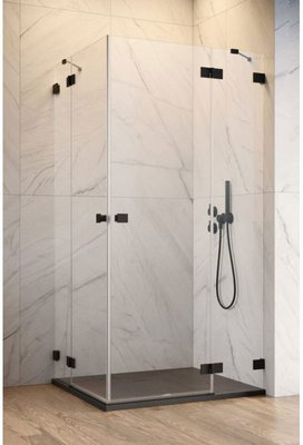 душевой уголок radaway essenza pro black kdd 90x90