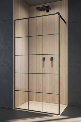 душевой уголок radaway walk-in modo x ii black factory 70