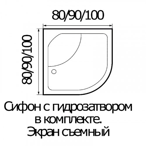 Душевая кабина River Temza 90/46 MT 90x90